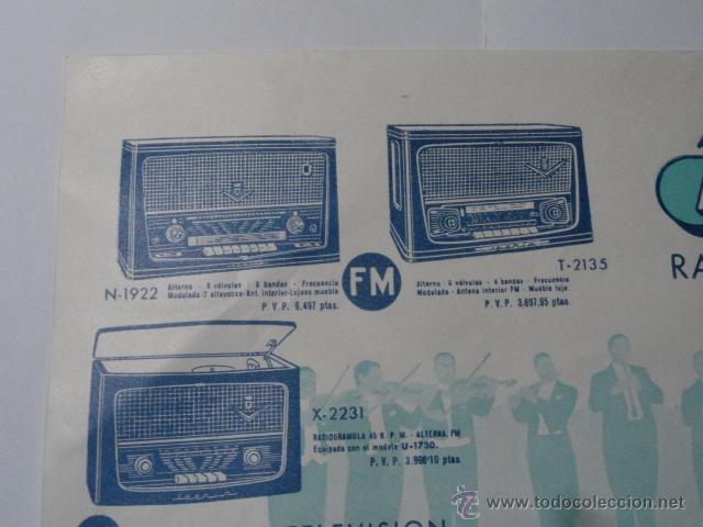 Radios antiguas: FOLLETO CATALOGO RADIO IBERIA RADIO TELEVISOR 1960 - Foto 3 - 52580343