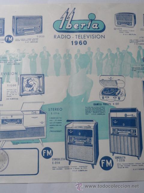Radios antiguas: FOLLETO CATALOGO RADIO IBERIA RADIO TELEVISOR 1960 - Foto 7 - 52580343