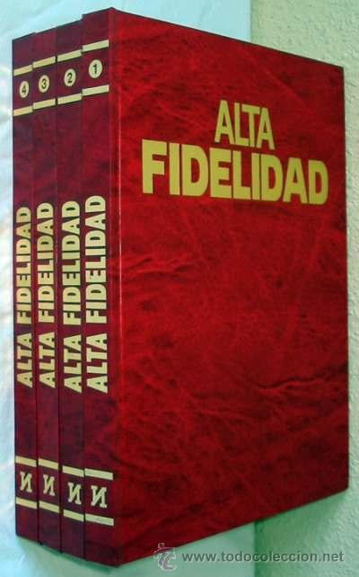 ALTA FIDELIDAD - 4 TOMOS COMPLETA - NUEVA LENTE 1980 - VER ÍNDICES (Radios, Gramófonos, Grabadoras y Otros - Catálogos, Publicidad y Libros de Radio)