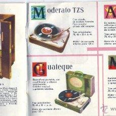 Radios antiguas: S011- TELEFUNKEN- CATALOGO 1959 CON LISTA DE PRECIOS- 20X14,5 CM- CONCESIONARIO RADIO WATT. Lote 53024621
