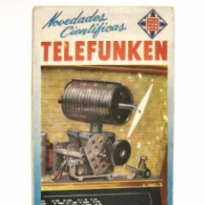 Radios antiguas: CATALOGO DESPLEGABLE PUBLICIDAD DE RADIOS / RADIO TELEFUNKEN AÑO 1954. Lote 53241716