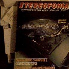Radios antiguas: REVISTA STEREOFONIA JULIO-AGOSTO 1984. Lote 53591958