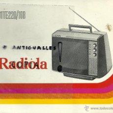 Radios antiguas: MANUAL DE INSTRUCCIONES TV RADIOLA 31TE220/18B. Lote 54206090