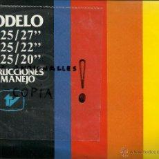 Radios antiguas: MANUAL DE INSTRUCCIONES TV ELBE MOD.2725,2225,2025. Lote 54207536