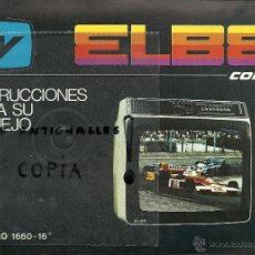 Radios antiguas: MANUAL DE INSTRUCCIONES TV ELBE MOD.1660-60. Lote 54207550