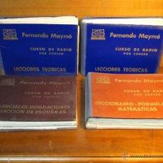Radios antiguas: CURSO DE RADIO POR CORREO.- FERNANDO MAYMÓ. 4 TOMOS. Lote 54226197