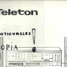 Radios antiguas: MANUAL DE INSTRUCCIONES Y ESQUEMA ELECTRONICO TELETON DCP-180. Lote 54253918