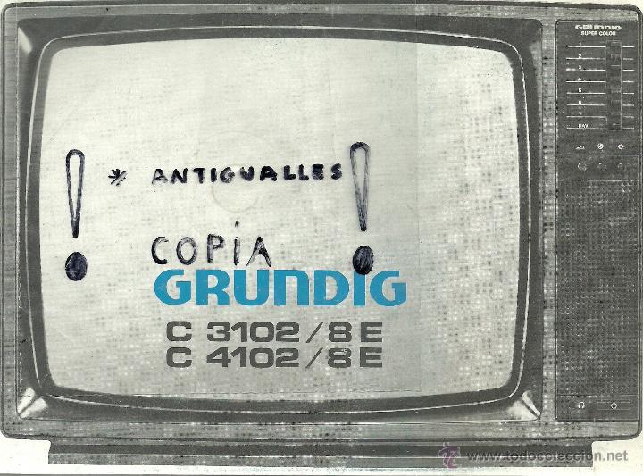 manual de instrucciones tv grundig c 3102 8e c comprar cat logos rh todocoleccion net Grundig TV VHS 55-Inch TV Grundig