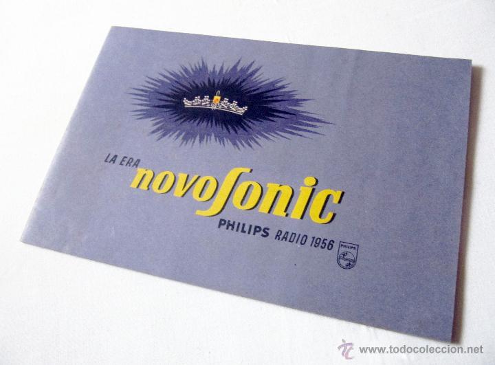 CATÁLOGO PHILIPS RADIO 1956 LA ERA NOVOFONIC - EXCELENTE ESTADO (Radios, Gramófonos, Grabadoras y Otros - Catálogos, Publicidad y Libros de Radio)