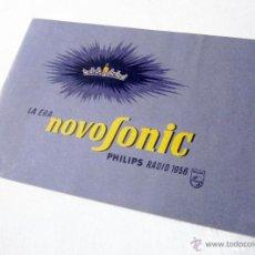 Radios antiguas: CATÁLOGO PHILIPS RADIO 1956 LA ERA NOVOFONIC - EXCELENTE ESTADO. Lote 54354433
