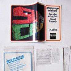 Radios antiguas: INTER GRUNDIG TVC 8612 E - MANUAL DE MANEJO Y ESQUEMA TELEVISOR Y DOCUMENTACION. Lote 54354987