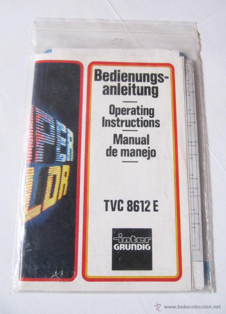 Radios antiguas: INTER GRUNDIG TVC 8612 E - MANUAL DE MANEJO Y ESQUEMA TELEVISOR Y DOCUMENTACION - Foto 2 - 54354987
