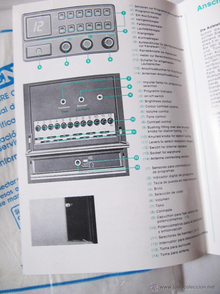 Radios antiguas: INTER GRUNDIG TVC 8612 E - MANUAL DE MANEJO Y ESQUEMA TELEVISOR Y DOCUMENTACION - Foto 3 - 54354987