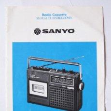 Radios antiguas: MANUAL DE INSTRUCCIONES SANYO M2420FZ M 2420 FZ - EN CASTELLANO. Lote 54418826