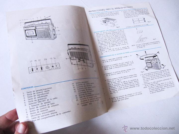 Radios antiguas: MANUAL DE INSTRUCCIONES SANYO M2420FZ M 2420 FZ - EN CASTELLANO - Foto 2 - 54418826