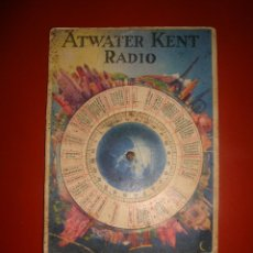 Radios antiguas: ATWATER KEN RADIO. Lote 54652586