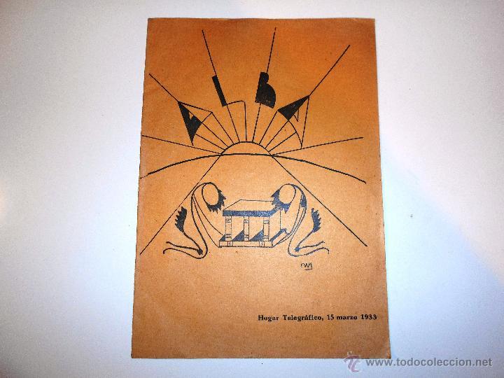 ALBA. HOGAR TELEGRÁFICO, 15 MARZO 1933. Nº 2 AÑO I (VER INDICE) (Radios, Gramófonos, Grabadoras y Otros - Catálogos, Publicidad y Libros de Radio)