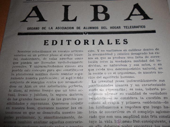 Radios antiguas: ALBA. HOGAR TELEGRÁFICO, 15 MARZO 1933. nº 2 año I (VER INDICE) - Foto 2 - 54804333