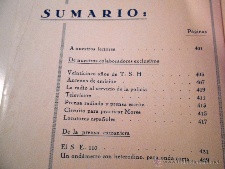 Radios antiguas: RADIO UNIVERSAL. AÑO III. OCTUBRE 1935. Nº XXVI - FONOVISIÓN - (VER INDICE) - Foto 4 - 54804404