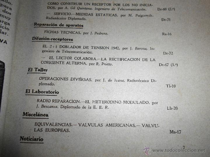 Radios antiguas: RADIOELECTRICIDAD Nº 43 REVISTA DE RADIO. OCTUBRE, 1952 (VER INDICE) - Foto 4 - 54804463