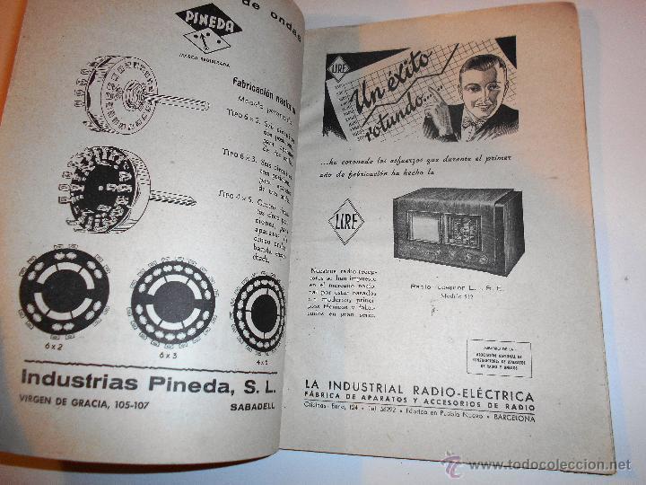 Radios antiguas: RADIOELECTRICIDAD Nº 43 REVISTA DE RADIO. OCTUBRE, 1952 (VER INDICE) - Foto 5 - 54804463