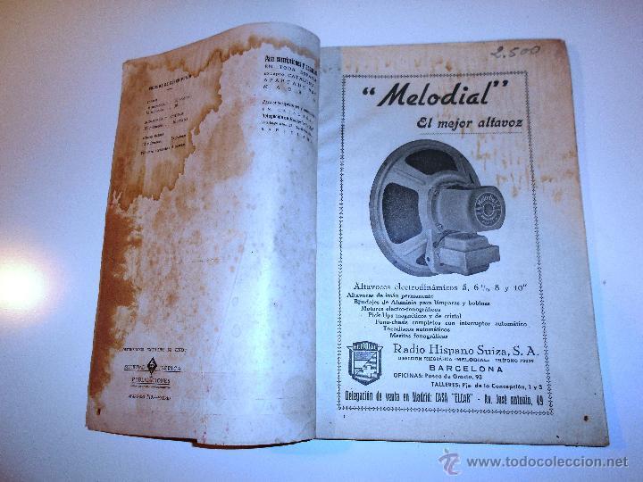 Radios antiguas: RADIOELECTRICIDAD Nº 43 REVISTA DE RADIO. OCTUBRE, 1952 (VER INDICE) - Foto 6 - 54804463