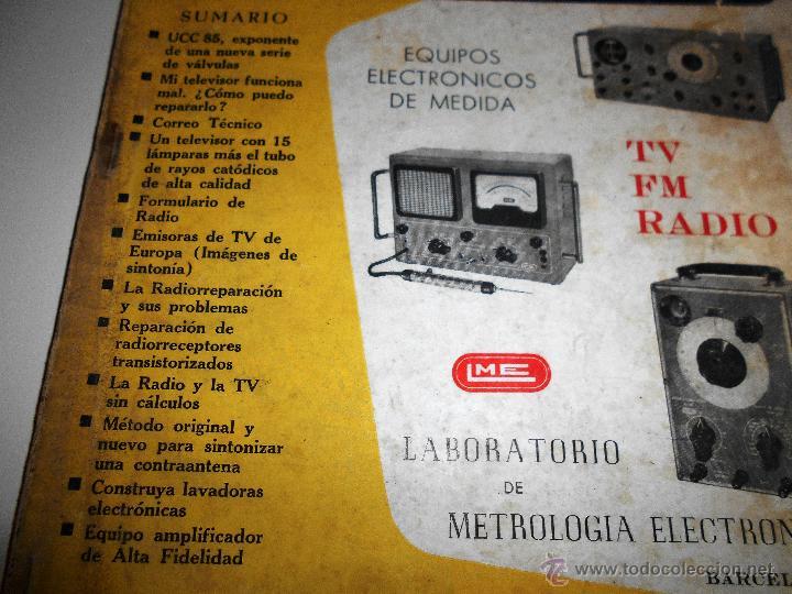 Radios antiguas: RADIOELECTRICIDAD Nº 243 REVISTA DE RADIO. JULIO, 1959 (VER INDICE) - Foto 2 - 54804493