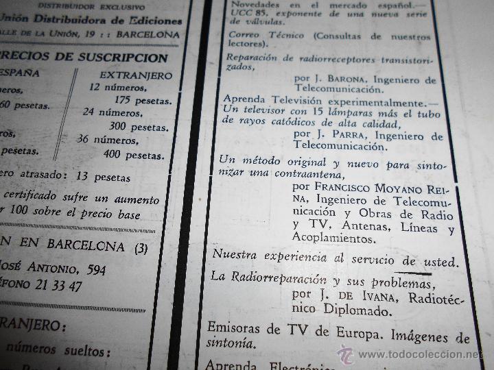 Radios antiguas: RADIOELECTRICIDAD Nº 243 REVISTA DE RADIO. JULIO, 1959 (VER INDICE) - Foto 4 - 54804493