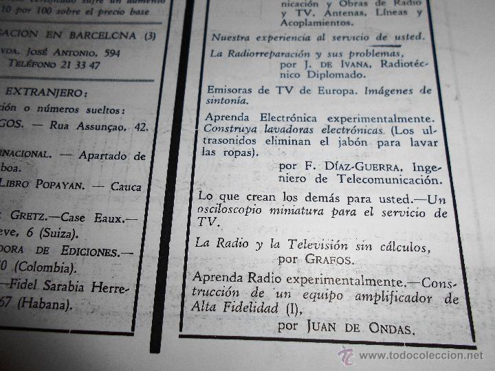 Radios antiguas: RADIOELECTRICIDAD Nº 243 REVISTA DE RADIO. JULIO, 1959 (VER INDICE) - Foto 5 - 54804493