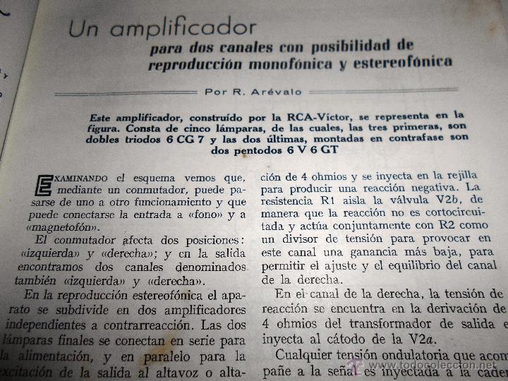 Radios antiguas: RADIOELECTRICIDAD Nº 243 REVISTA DE RADIO. JULIO, 1959 (VER INDICE) - Foto 6 - 54804493