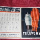 Radios antiguas: CATALOGO ANTIGUO DE VALVULAS TELEFUNKER. Lote 54825195