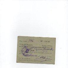 Radios antiguas: LICENCIA PARA USO DE APARATO RADIO - RECEPTOR EN DOMICILIO PARTICULAR. GIJON AÑO 1943. Lote 54908109