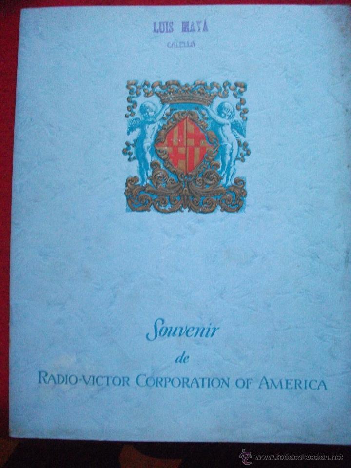 SOUVENIR DE RADIO VICTOR CORPORATION OF AMERICA - EXPOSICION INTERNACIONAL DE BARCELONA (Radios, Gramófonos, Grabadoras y Otros - Catálogos, Publicidad y Libros de Radio)