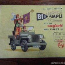 Radios antiguas: CATALOGO BI AMPLI MODELOS PHILIPS 1957 RADIOS,TOCADISCOS Y RADIOGRAMOFONOS (RADIO). Lote 55100101