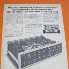 Radios antiguas: PUBLICIDAD 1974 - COLECCION ELECTRONICA - AMPLIFICADORES SANSUI. Lote 55134568
