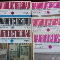 Radios antiguas: LOTE 6 REVISTAS RADIO ELECTRICIDAD TELEVISION Y ELECTRONICA, 1971, 1972 Y 1973. Lote 55813184