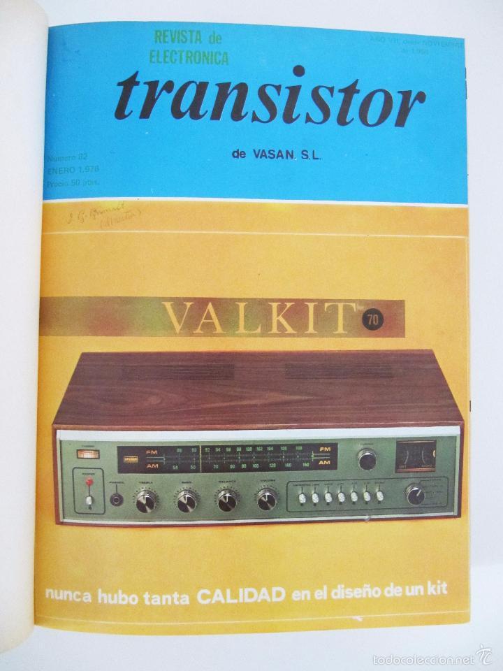 Radios antiguas: TOMO CON AÑO 1976 COMPLETO DE LA REVISTA TRANSISTOR - 12 REVISTAS ENCUADERNADOS EN ESTADO MUY BUENO - Foto 2 - 55968574