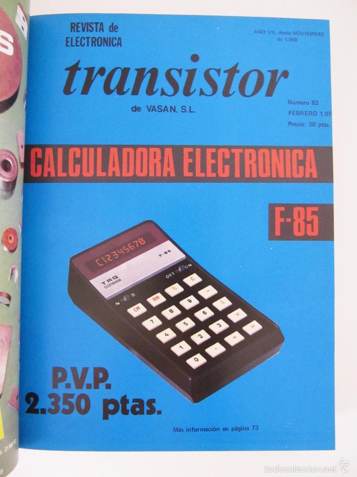 Radios antiguas: TOMO CON AÑO 1976 COMPLETO DE LA REVISTA TRANSISTOR - 12 REVISTAS ENCUADERNADOS EN ESTADO MUY BUENO - Foto 3 - 55968574