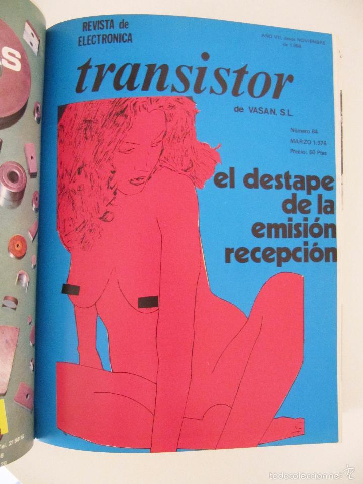 Radios antiguas: TOMO CON AÑO 1976 COMPLETO DE LA REVISTA TRANSISTOR - 12 REVISTAS ENCUADERNADOS EN ESTADO MUY BUENO - Foto 4 - 55968574
