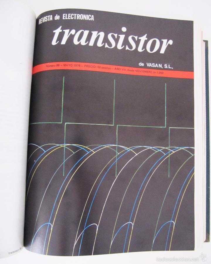 Radios antiguas: TOMO CON AÑO 1976 COMPLETO DE LA REVISTA TRANSISTOR - 12 REVISTAS ENCUADERNADOS EN ESTADO MUY BUENO - Foto 6 - 55968574
