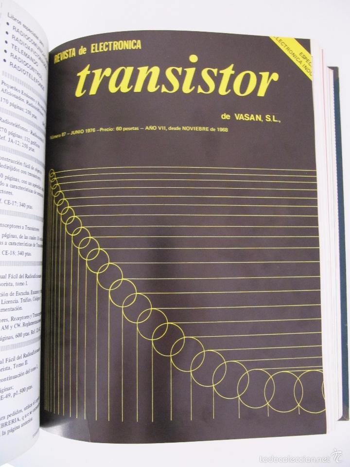Radios antiguas: TOMO CON AÑO 1976 COMPLETO DE LA REVISTA TRANSISTOR - 12 REVISTAS ENCUADERNADOS EN ESTADO MUY BUENO - Foto 7 - 55968574