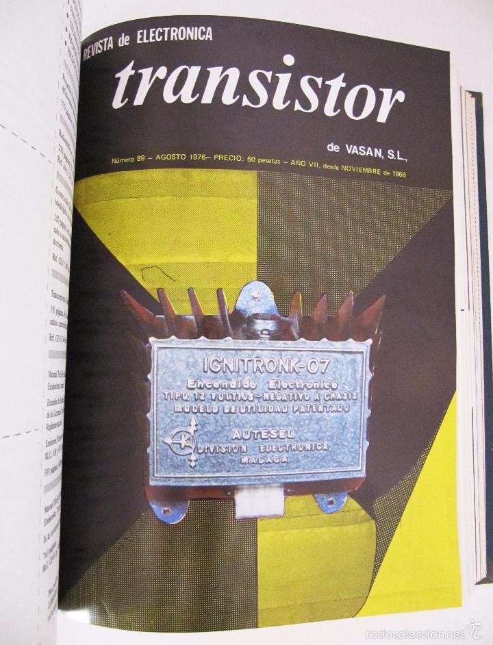 Radios antiguas: TOMO CON AÑO 1976 COMPLETO DE LA REVISTA TRANSISTOR - 12 REVISTAS ENCUADERNADOS EN ESTADO MUY BUENO - Foto 11 - 55968574