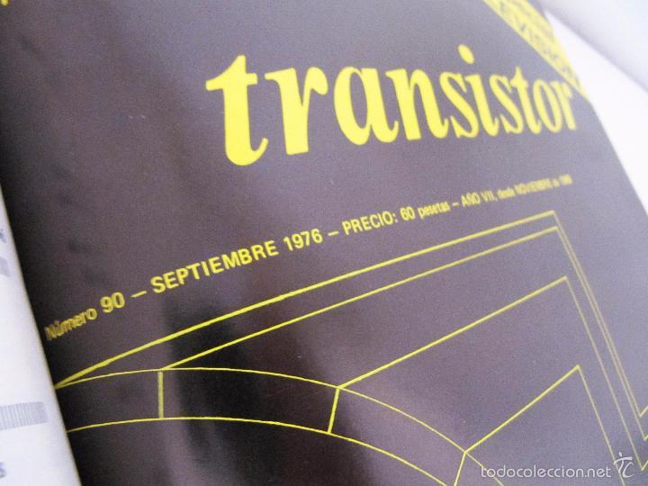 Radios antiguas: TOMO CON AÑO 1976 COMPLETO DE LA REVISTA TRANSISTOR - 12 REVISTAS ENCUADERNADOS EN ESTADO MUY BUENO - Foto 12 - 55968574