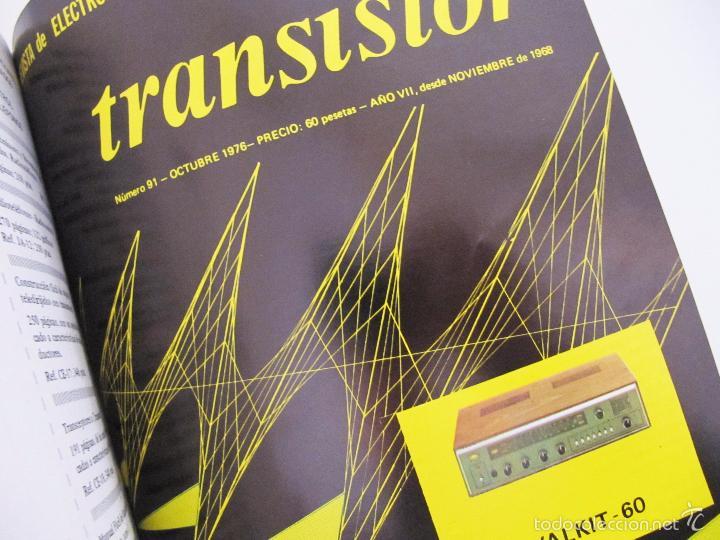 Radios antiguas: TOMO CON AÑO 1976 COMPLETO DE LA REVISTA TRANSISTOR - 12 REVISTAS ENCUADERNADOS EN ESTADO MUY BUENO - Foto 14 - 55968574