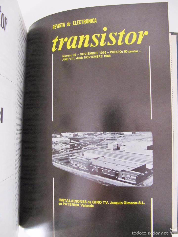 Radios antiguas: TOMO CON AÑO 1976 COMPLETO DE LA REVISTA TRANSISTOR - 12 REVISTAS ENCUADERNADOS EN ESTADO MUY BUENO - Foto 15 - 55968574