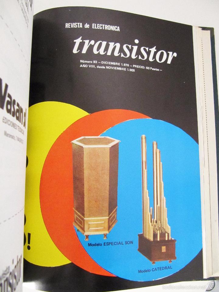 Radios antiguas: TOMO CON AÑO 1976 COMPLETO DE LA REVISTA TRANSISTOR - 12 REVISTAS ENCUADERNADOS EN ESTADO MUY BUENO - Foto 16 - 55968574