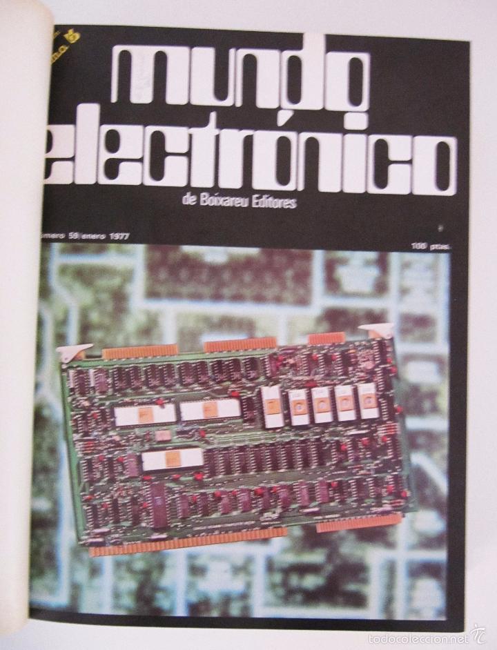 Radios antiguas: TOMO AÑO 1977 1º SEMESTRE DE LA REVISTA MUNDO ELECTRONICO - 6 REVISTAS ENCUADERNADO EXCELENTE - Foto 2 - 55985696