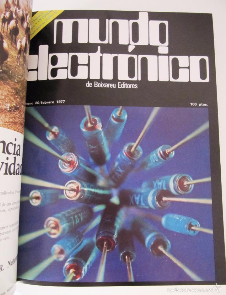 Radios antiguas: TOMO AÑO 1977 1º SEMESTRE DE LA REVISTA MUNDO ELECTRONICO - 6 REVISTAS ENCUADERNADO EXCELENTE - Foto 3 - 55985696