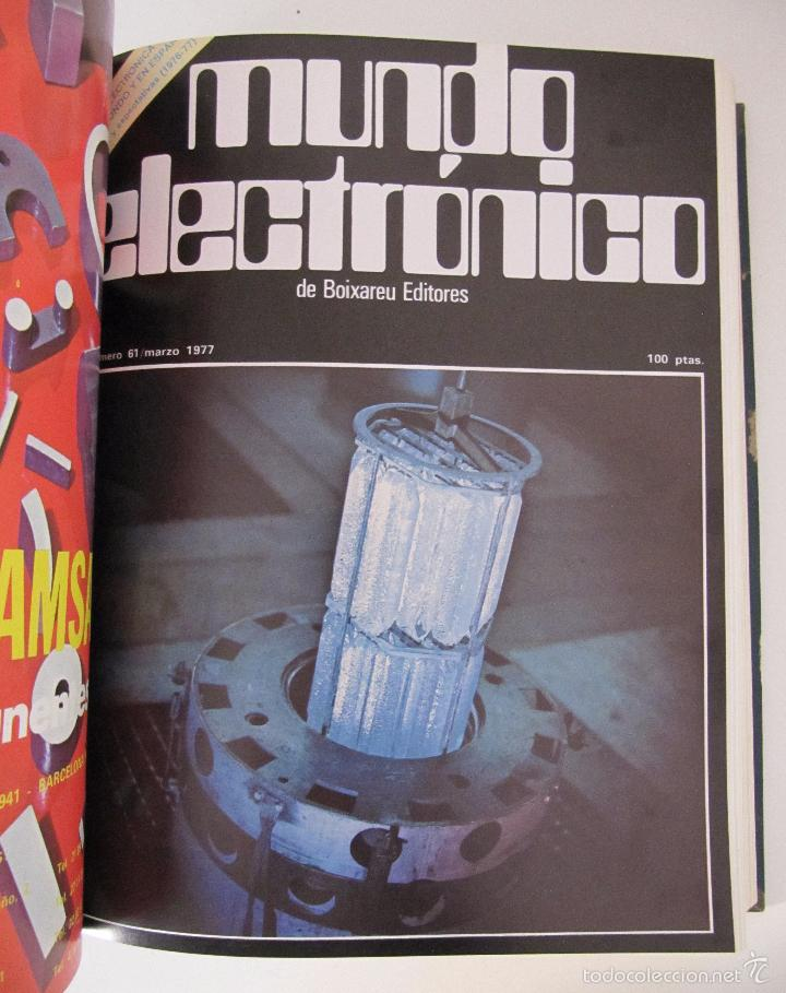Radios antiguas: TOMO AÑO 1977 1º SEMESTRE DE LA REVISTA MUNDO ELECTRONICO - 6 REVISTAS ENCUADERNADO EXCELENTE - Foto 5 - 55985696