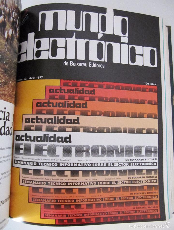 Radios antiguas: TOMO AÑO 1977 1º SEMESTRE DE LA REVISTA MUNDO ELECTRONICO - 6 REVISTAS ENCUADERNADO EXCELENTE - Foto 6 - 55985696